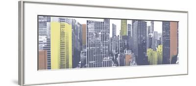 Pastel NYC Panorama-Jeff Pica-Framed Photographic Print