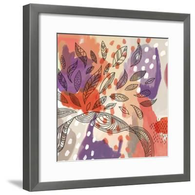 Bright Life I Red Yellow Line Crop--Framed Art Print