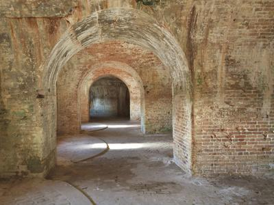 Brick Arches and Gun Placements in a Civil War Era Fort Pickens in the Gulf Islands National Seasho-Colin D Young-Framed Photographic Print