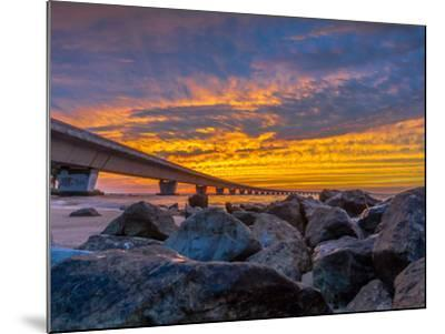 Unique Angle of the Garcon Point Bridge Spanning over Pensacola Bay Shot during a Gorgeous Sunset F-David Schulz Photography-Mounted Photographic Print