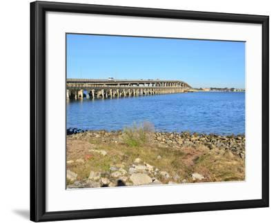 Beach Crossing from Pensacola Beach to Gulf Breezes-Paul Briden-Framed Photographic Print
