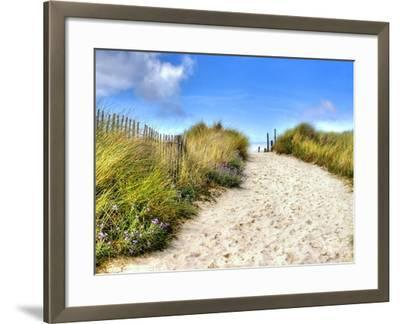 Path in the Dunes Going to the Seaside-Chantal de Bruijne-Framed Photographic Print