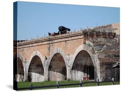 Fort Pickens Arches-Charles F Olson-Stretched Canvas Print