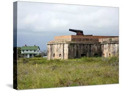 Fort Pickens, Pensacola, Florida-William Silver-Stretched Canvas Print