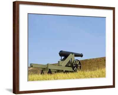 A Cannon at Fort Barrancas, NAS Pensacola Fl.-John Clark-Framed Photographic Print