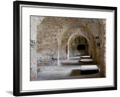Fort Pickens Was Completed in 1834 and is Part of the Gulf Islands National Seashore in Florida.-Sherry Yates Young-Framed Photographic Print