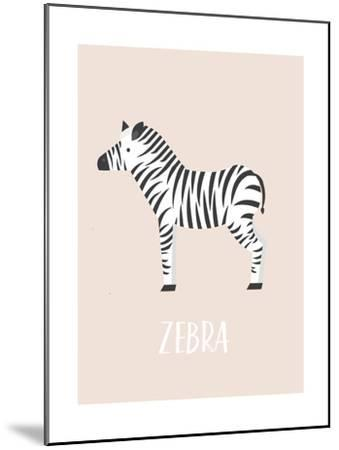 Zebra-Kindred Sol Collective-Mounted Art Print
