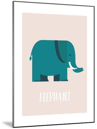 Elephant-Kindred Sol Collective-Mounted Art Print