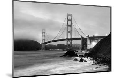 Cloudy sunset, ocean waves in San Francisco at Golden Gate Bridge from Marshall Beach-David Chang-Mounted Photographic Print