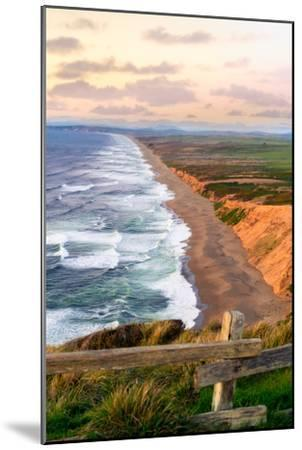 Sunset along Pt Reyes Seashore, San Francisco with oceans breaking along the California coast-David Chang-Mounted Photographic Print