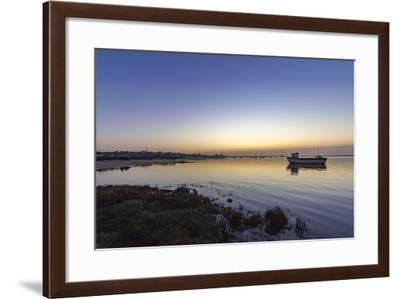 Dawn Seascape of Ria Formosa Wetlands Natural Park, Shot in Cavacos Beach. Algarve. Portugal-Carlos Neto-Framed Photographic Print