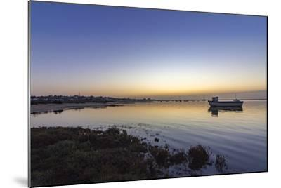 Dawn Seascape of Ria Formosa Wetlands Natural Park, Shot in Cavacos Beach. Algarve. Portugal-Carlos Neto-Mounted Photographic Print