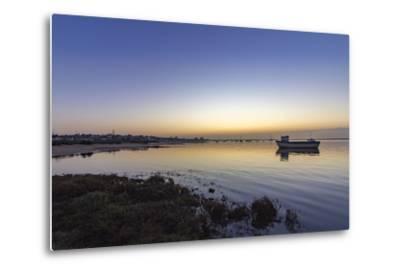 Dawn Seascape of Ria Formosa Wetlands Natural Park, Shot in Cavacos Beach. Algarve. Portugal-Carlos Neto-Metal Print