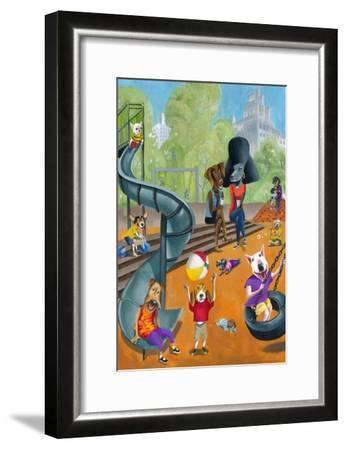 At the Dog Park-Mark Ulriksen-Framed Art Print