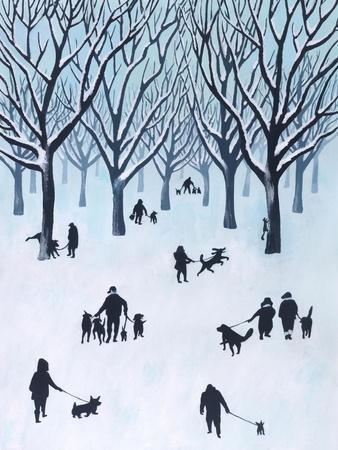 A Walk in the Park-Mark Ulriksen-Framed Art Print