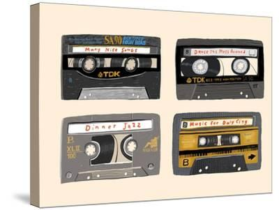 Four Mix Tapes-Mark Ulriksen-Stretched Canvas Print