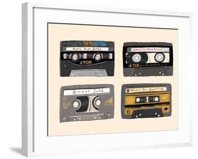 Four Mix Tapes-Mark Ulriksen-Framed Art Print