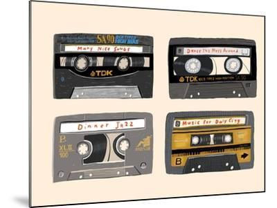 Four Mix Tapes-Mark Ulriksen-Mounted Art Print
