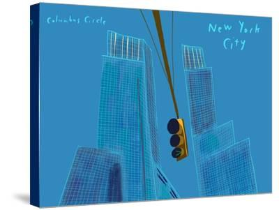 Columbus circle-Mark Ulriksen-Stretched Canvas Print