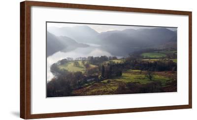 Farmland, Ullswater, Lake District National Park, Cumbria, England, United Kingdom, Europe-Martin Pittaway-Framed Photographic Print