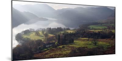 Farmland, Ullswater, Lake District National Park, Cumbria, England, United Kingdom, Europe-Martin Pittaway-Mounted Photographic Print