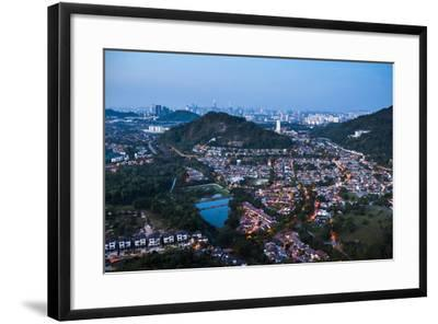 Kuala Lumpur skyline at night seen from Bukit Tabur Mountain, Malaysia, Southeast Asia, Asia-Matthew Williams-Ellis-Framed Photographic Print