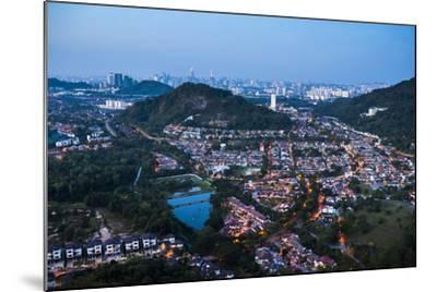 Kuala Lumpur skyline at night seen from Bukit Tabur Mountain, Malaysia, Southeast Asia, Asia-Matthew Williams-Ellis-Mounted Photographic Print