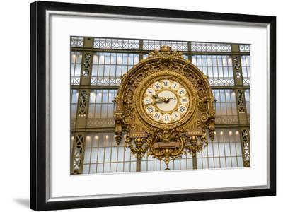 Clock, Musee d'Orsay, Paris, France, Europe-Peter Groenendijk-Framed Photographic Print
