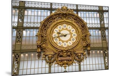 Clock, Musee d'Orsay, Paris, France, Europe-Peter Groenendijk-Mounted Photographic Print