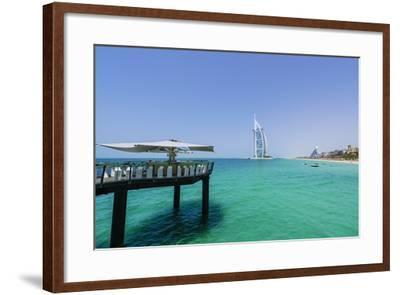 Burj Al Arab, Jumeirah Beach, Dubai, United Arab Emirates, Middle East-Fraser Hall-Framed Photographic Print