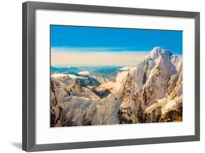 Flightseeing through peaks of Mt. Denali and the Alaskan mountain range, Alaska, USA, North America-Laura Grier-Framed Photographic Print