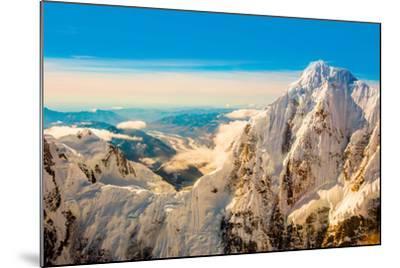Flightseeing through peaks of Mt. Denali and the Alaskan mountain range, Alaska, USA, North America-Laura Grier-Mounted Photographic Print