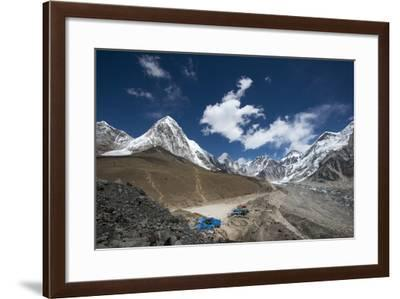 The last village on the Everest Base Camp trek lying at 5100m, Khumbu Region, Nepal, Himalayas-Alex Treadway-Framed Photographic Print
