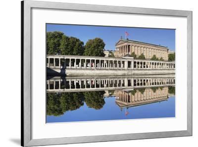 Alte Nat'lgalerie (Old Nat'l Gallery), Colonnades, UNESCO World Heritage, Berlin, Germany-Markus Lange-Framed Photographic Print