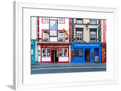 Colorful building fronts of traditional beer pubs in Kilkenny, County Kilkenny, Leinster, Ireland-Logan Brown-Framed Photographic Print