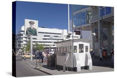 Checkpoint Charlie, Berlin Mitte, Berlin, Germany, Europe-Markus Lange-Stretched Canvas Print