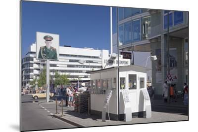 Checkpoint Charlie, Berlin Mitte, Berlin, Germany, Europe-Markus Lange-Mounted Photographic Print