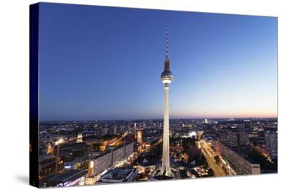 View from Hotel Park Inn over Alexanderplatz Square, Berliner Fernsehturm TV Tower, Berlin, Germany-Markus Lange-Stretched Canvas Print