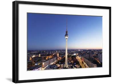 View from Hotel Park Inn over Alexanderplatz Square, Berliner Fernsehturm TV Tower, Berlin, Germany-Markus Lange-Framed Photographic Print