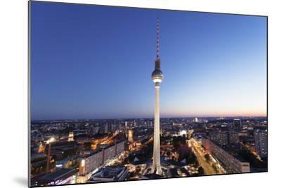 View from Hotel Park Inn over Alexanderplatz Square, Berliner Fernsehturm TV Tower, Berlin, Germany-Markus Lange-Mounted Photographic Print