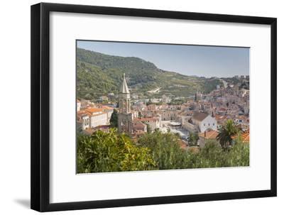 View over Hvar, Hvar Island, Dalmatia, Croatia, Europe-Frank Fell-Framed Photographic Print