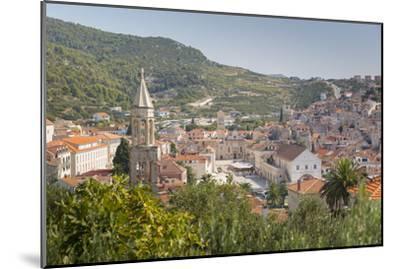 View over Hvar, Hvar Island, Dalmatia, Croatia, Europe-Frank Fell-Mounted Photographic Print