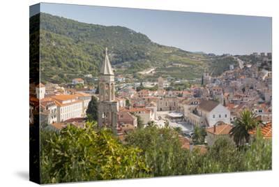 View over Hvar, Hvar Island, Dalmatia, Croatia, Europe-Frank Fell-Stretched Canvas Print