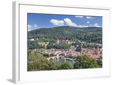 Old town with Karl-Theodor-Bridge (Old Bridge), Heilig Geist Church and Castle, Germany-Markus Lange-Framed Photographic Print