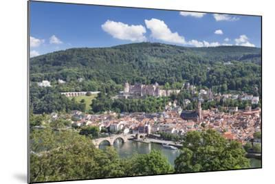 Old town with Karl-Theodor-Bridge (Old Bridge), Heilig Geist Church and Castle, Germany-Markus Lange-Mounted Photographic Print
