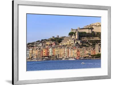 Portovenere (Porto Venere), UNESCO World Heritage, harbourfront houses, church and castle, Italy-Eleanor Scriven-Framed Photographic Print