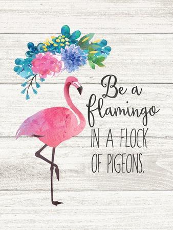 Be a Flamingo-Jo Moulton-Framed Art Print