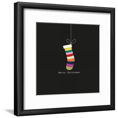 Merry Christmas Stocking-A.V. Art-Framed Art Print