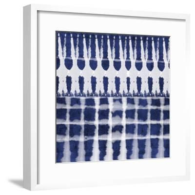 Blue Shibori C-Linda Woods-Framed Art Print