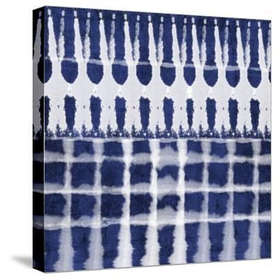 Blue Shibori C-Linda Woods-Stretched Canvas Print